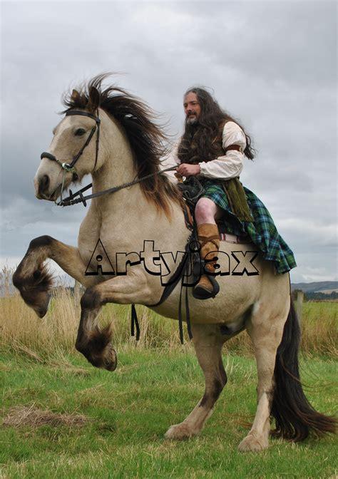 scottish highlander warrior highlander on horse jaqui wilson flickr