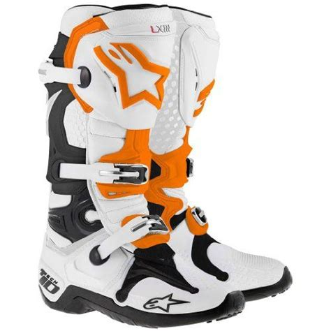 Alpinestar Boots Orange alpinestars tech 10 mx boots orange 2014 size 10