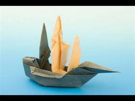 Ship Origami - how to make an origami ship