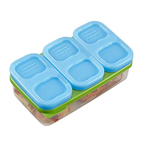 Blue Rubbermaid Small rubbermaid lunchblox pack small blue 3 pack 1857118