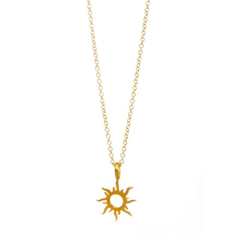 Sun Pendant Necklace forever summer radiant sun necklace gold dipped dogeared