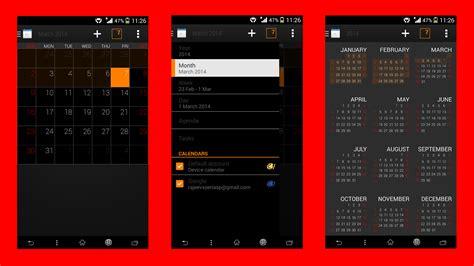 kitkat themed apps install xperia z2 black themed calendar kitkat app