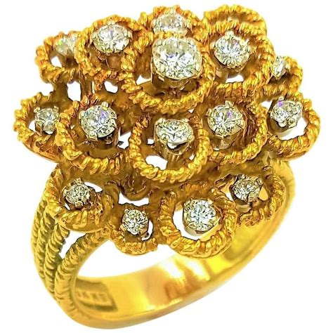 Bros Circle Gold Hammerman Brothers New York Gold Cluster Lilly