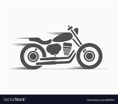 Vintage Motorcycle Logo Template Royalty Free Vector Image Motorcycle Logo Design Templates