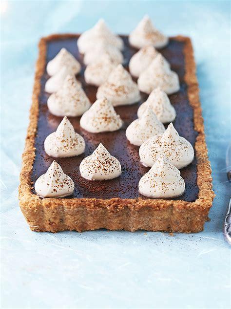 espresso coffee tart recipe  hazelnut pastry