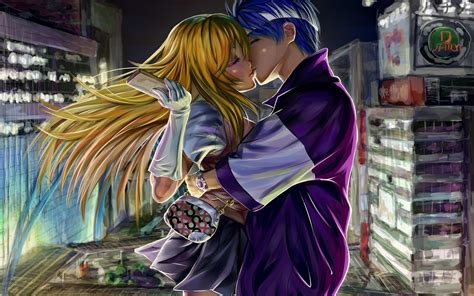 download wallpaper anime couple cute anime couple wallpaper 70 images