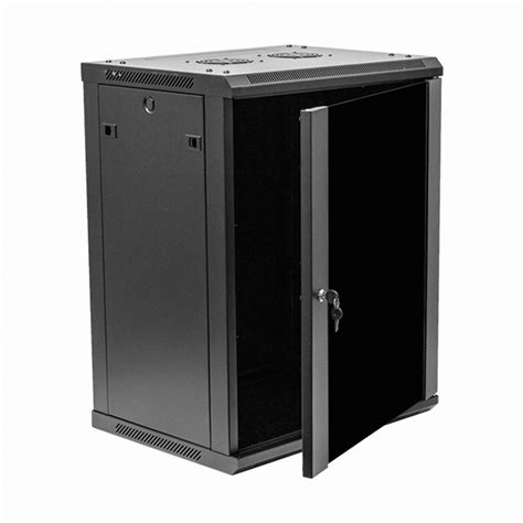 Wall Mount Cabinet With Lock by 15u It Wall Mount Network Server Data Cabinet Rack Glass
