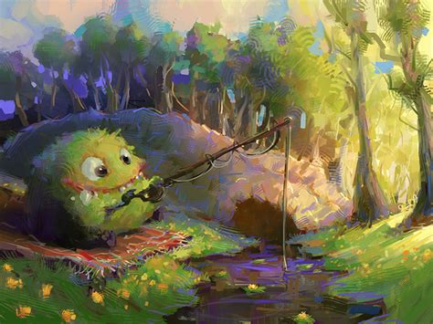 painting story fishing by marcobucci on deviantart