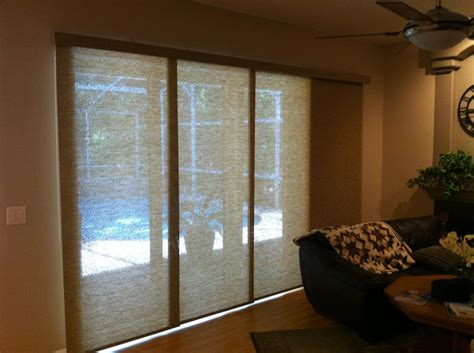 what is best window treatment for sliding glass door
