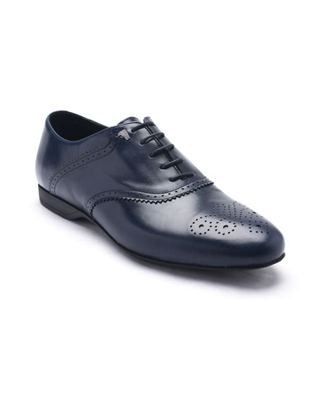 versace versace collection s leather oxford lace up