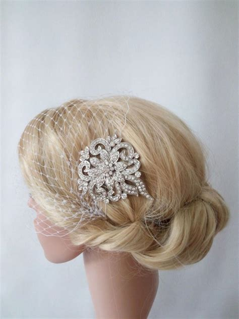 Wedding Hair With Veil And Comb by Birdcage Veil Wedding Veil Bridal Veil And Bridal Comb