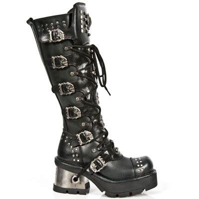 m 1030 s1 custom new rock black knee high boots