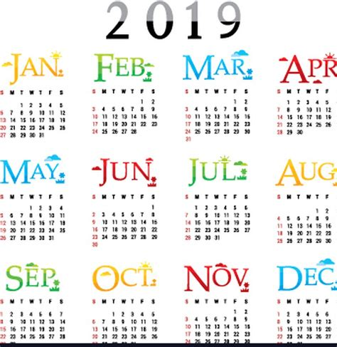 one page yearly calendar template printable for totally free