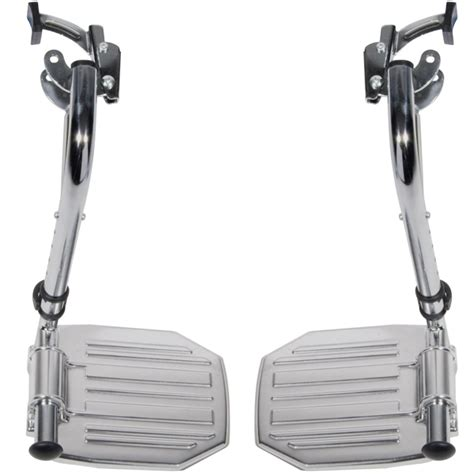 ec swing chrome swing away footrests use with bariatric sentra ec