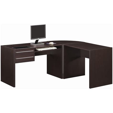 black l shape desk to accomodate a space