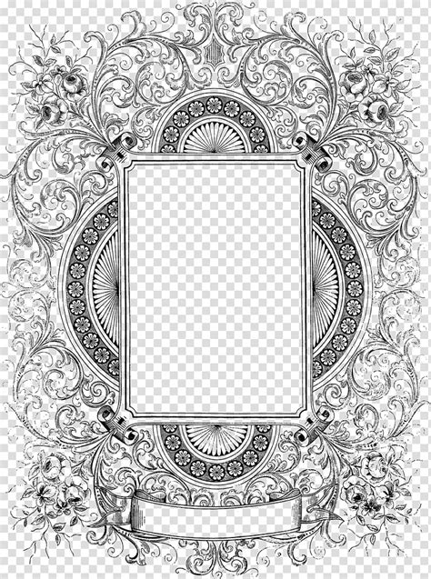 Frame Text Black and white Pattern, Decorative Border Free