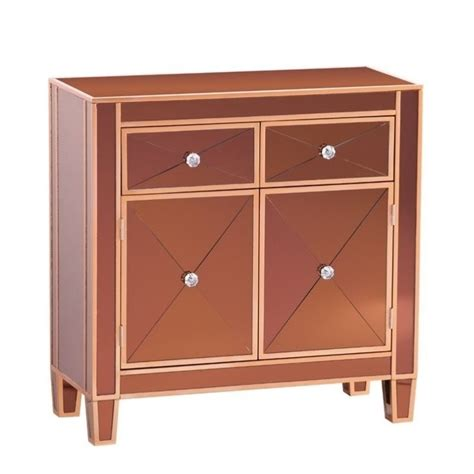 mirrored accent cabinet southern enterprises mirage colored mirrored accent