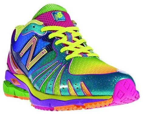bright colored athletic shoes new balance 890 revlite rainbow blinds with color