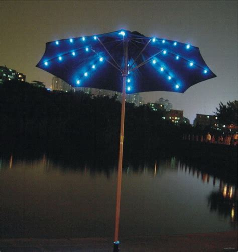 patio umbrella with solar lights rainwear