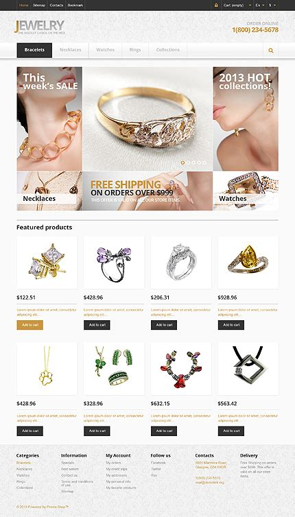 Alluring Bright Online Jewellery Stores Prestashop Themes Set 1 Jewellery Template Free