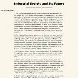 industrial society and its future books ted kaczynski pearltrees