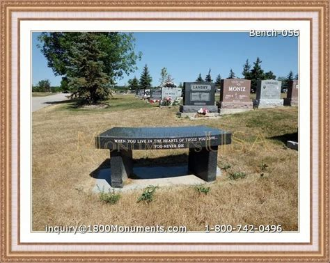 memorial bench cost bench headstones