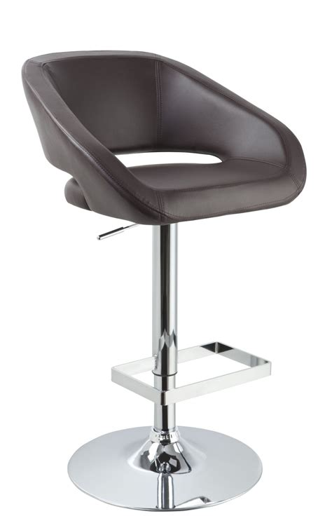 modern leather bar stools modrest joel contemporary brown eco leather bar stool