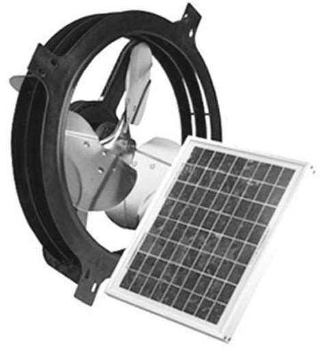 solar powered exhaust fan air vent inc 53560 solar powered gable attic vent