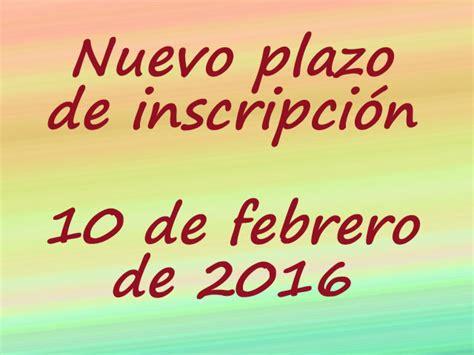 plazo de inscripcion procrear 2016 ii congreso forestal de la comunitat valenciana