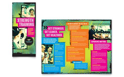 strength training tri fold brochure template word