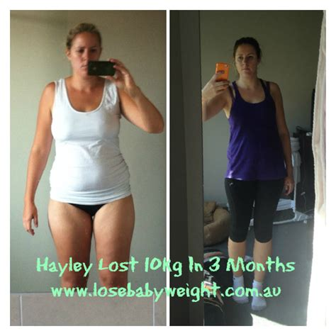 10 Weight Loss After by Lose Baby Weight Hayley Lost 10kg In 3 Months