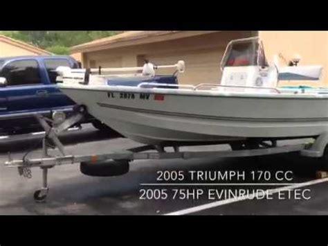 triumph boat trailer 2005 triumph 170cc in miami fl youtube