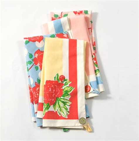 vintage inspired kitchen towels linens