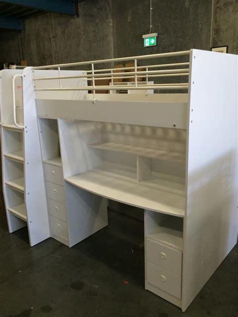 bunk bed king reviews loft bunk king single bed white new in box goingbunks biz