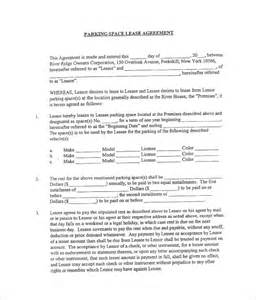 Car Park Lot Rental Agreement Sle Parking Lease Template 9 Free Documents
