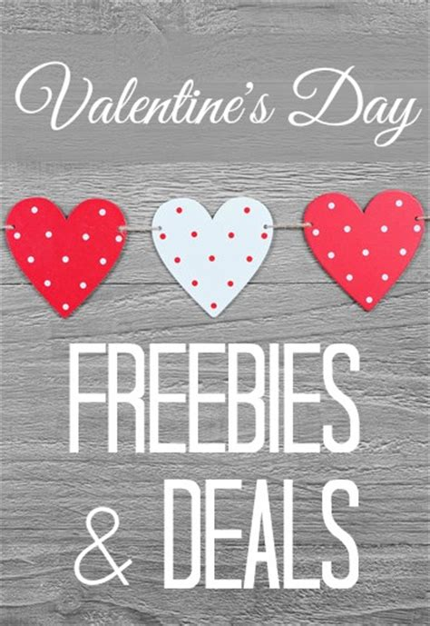 valentines day packages s day freebies and deals frugal living nw