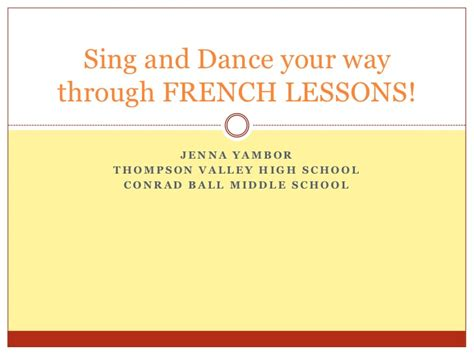 Sing And Dance Your Way Through French Lessons