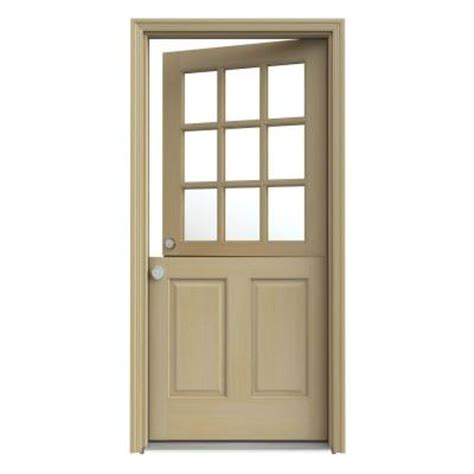 Jeld Wen 32 In X 80 In 9 Lite Unfinished Dutch Hemlock Exterior Doors Home Depot