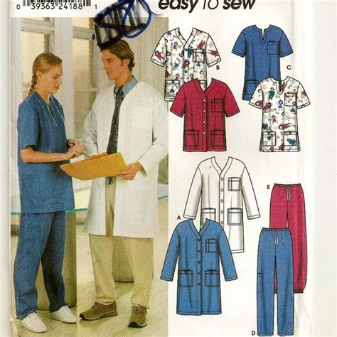 pattern for a lab coat a scrubs separates pattern lab coat jacket top and
