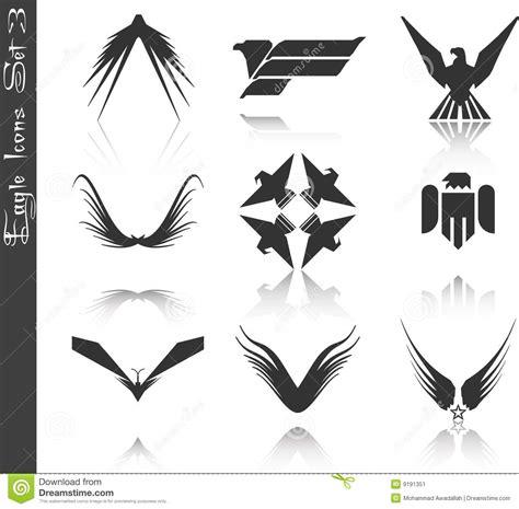 Aquila Tribal Set eagle icons set 3 stock vector image of flight vectors