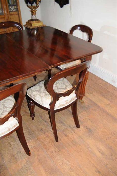 mahogany dining table set chairs balloon back