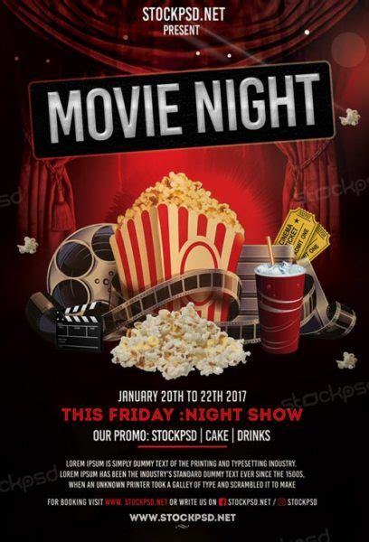 movie night free flyer template download flyer templates