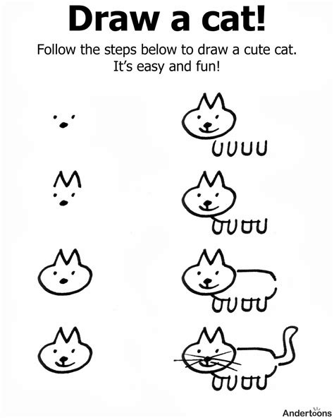 how to draw cat kindergarten holding and sticking together cat