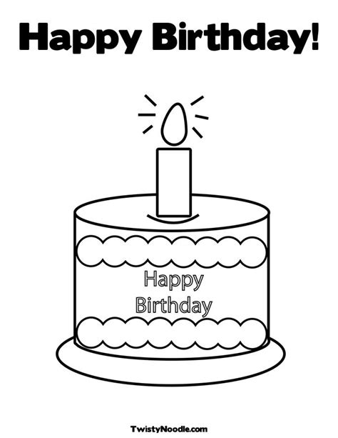 coloring happy birthday cakes candles pages candle birth day colouring pages