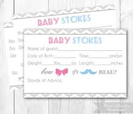 gender reveal party guessing game card by