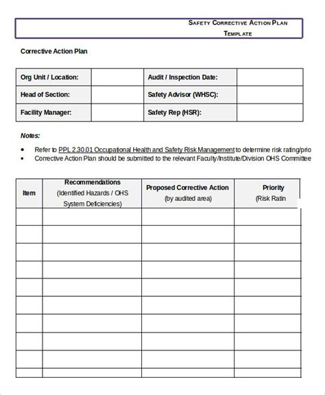 sle corrective plan template employee corrective plan template 28 images sle