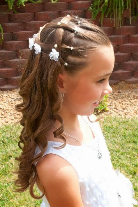 Peinados Para Primera Comunin 2016 | moda cabellos peinados de ni 241 as en su primera comuni 243 n 2014