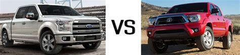 Ford F150 Vs Toyota Tacoma 2015 Ford F 150 Vs Toyota Tacoma Lafayette Ford Lincoln