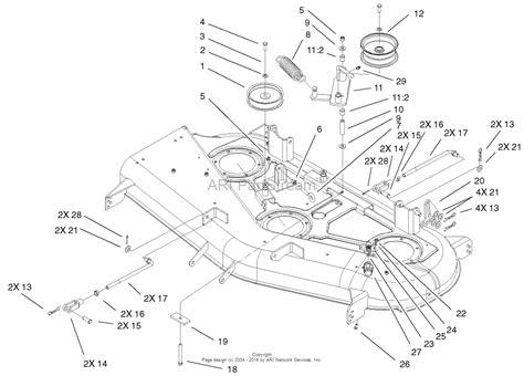 44 parts diagram toro 74501 z16 44 timecutter z mower 2001 sn