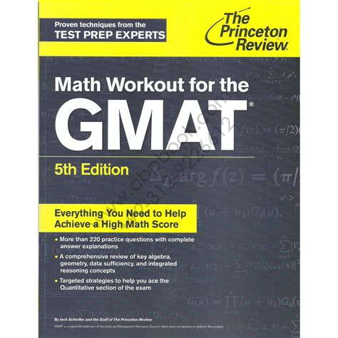 Mba Gmat Official Edition by The Princeton Review Gmat Math Workout 5th Edition By